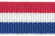 Croatian Red White Blue Ribbon 19mm x 25metres