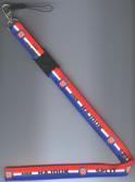 Hajduk Red White and Blue Mobile Phone Strap