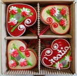Licitar Red & White Hearts Box of 4