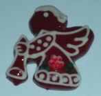 Licitar Fridge Magnet Small - Red Angel With Trumpet