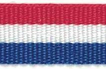 Croatian Red White Blue Ribbon 38mm x 10metres