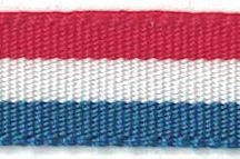 Croatian Red White Blue Ribbon 10mm x 25metres - ( This Is Used For Rosemary / Ruzmarin )